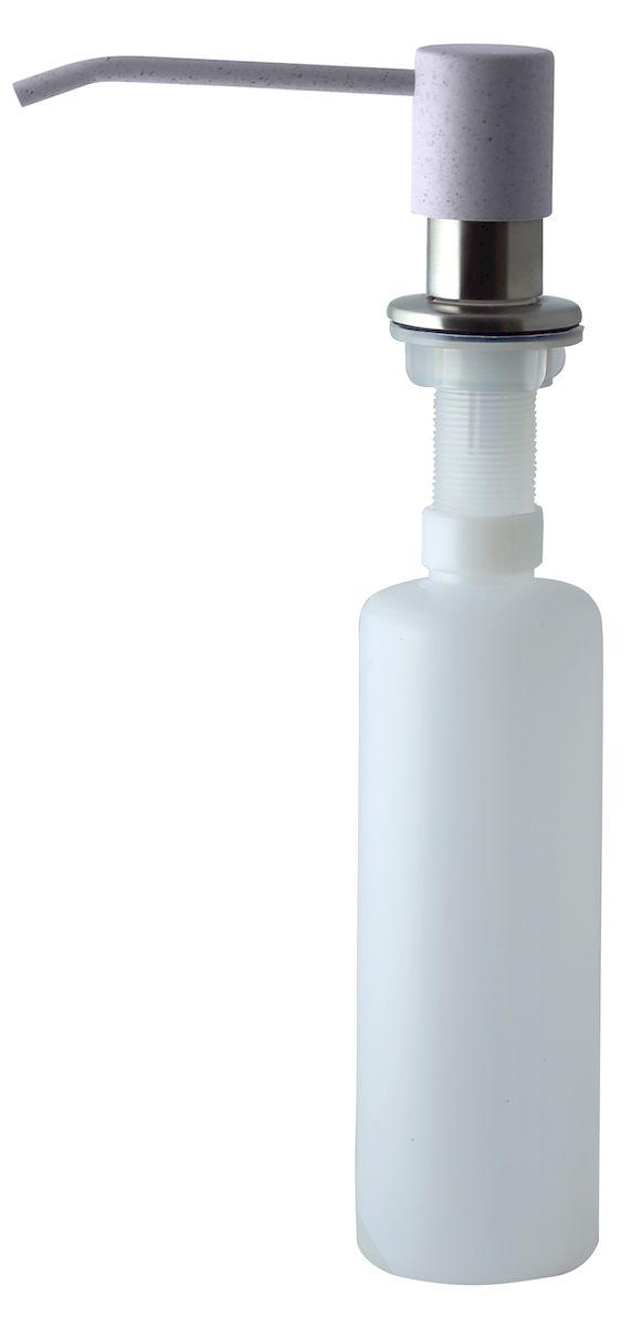 Дозатор для моющего средства Zigmund & Shtain, встраиваемый, цвет: речной песок, 300 млa002zs_речной песокДиспенсер для моющего средства позволяет с помощью лёгкого нажатия получать необходимое количество жидкости для мытья посуды. Дозатор освобождает пространство столешницы вокруг мойки от бутылочек с моющим средством и делает кухню удобной и красивой. Встраиваемый диспенсер устанавливается в столешницу или кухонную мойку. Корпус емкости под моющее средство и трубка подачи моющего средства выполнены из пластика, что исключает возможность коррозии и разъедания любым моющим средством, применяемым в быту. Диспенсер легко заполняется моющим средством сверху. Объем: 300 мл. Угол поворота: 360°. Диаметр врезного отверстия: 35 мм. Данный диспенсер подходит к кухонной мойке Zigmund & Shtain цвета речной песок.