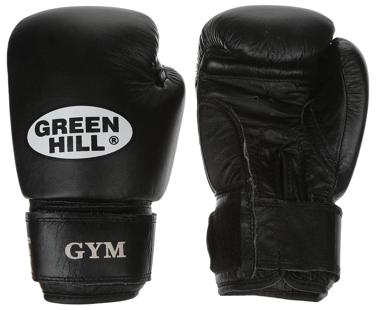 Перчатки боксерские Green Hill Gym, цвет: черный, белый. Вес 6 унцийBGG-2018Боксерские перчатки Green Hill Gym подходят для всех видов единоборств где применяют перчатки. Подойдет как для бокса, так и для кикбоксинга. Новички и профессионалы высоко ценят эту модель за универсальность. Верхняя часть перчатки выполнена из натуральной кожи, наполнитель - пенополиуретан. Перфорированная поверхность в области ладони позволяет создать максимально комфортный терморежим во время занятий. Закрепляется на руке при помощи липучки.