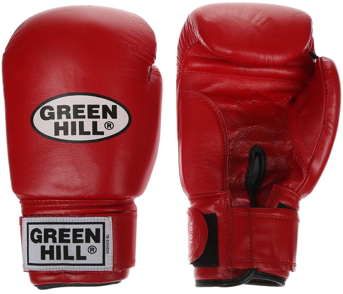 Перчатки боксерские Green Hill Super Star, цвет: красный, белый. Вес 14 унций. BGS-1213сBGS-1213сБоксерские перчатки Green Hill Super Star предназначены для использования профессионалами. Подойдут для спаррингов и соревнований. Верх выполнен из натуральной кожи, наполнитель - из вспененного полимера. Отверстие в области ладони позволяет создать максимально комфортный терморежим во время занятий. Манжет на липучке способствует быстрому и удобному надеванию перчаток, плотно фиксирует перчатки на руке.