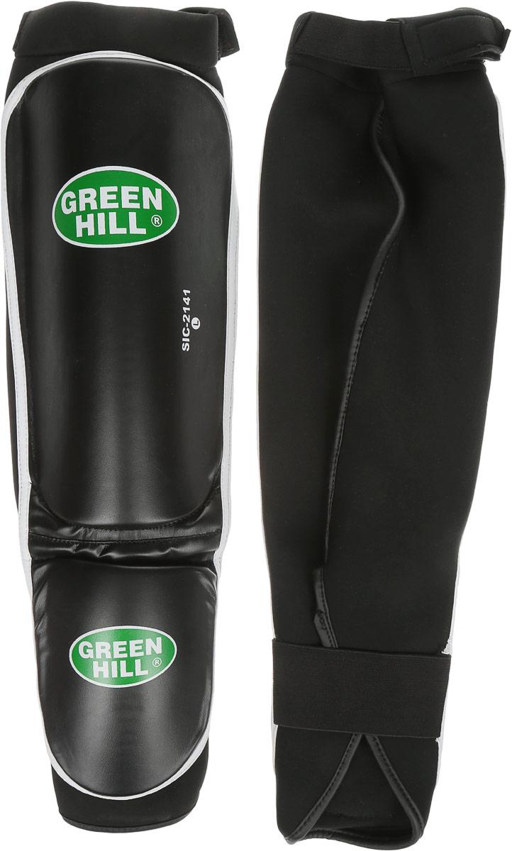 Защита голени и стопы Green Hill Cover, цвет: черный, белый. Размер L. SIС-2141SIC-2141Защита голени и стопы Green Hill Cover с наполнителем, выполненным из полипропилена, необходима при занятиях спортом для защиты пальцев и суставов от вывихов, ушибов и прочих повреждений. Накладки выполнены из высококачественной искусственной кожи. Они прочно фиксируются за счет эластичной ленты и липучек. Длина голени: 30 см. Ширина голени: 15,5 см. Длина стопы: 15 см. Ширина стопы: 11,5 см.