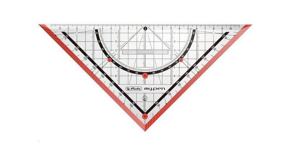 Herlitz Треугольник My Pen со съемным держателем цвет красный 25 см11367976Неломающийся треугольник Herlitz My Pen со съемным держателем, выполненный из прочного пластика, подходит как для правшей, так и для левшей. Треугольник Herlitz My Pen - это незаменимый инструмент для построения и измерения углов. Высокое качество исполнения гарантирует длительный срок службы.