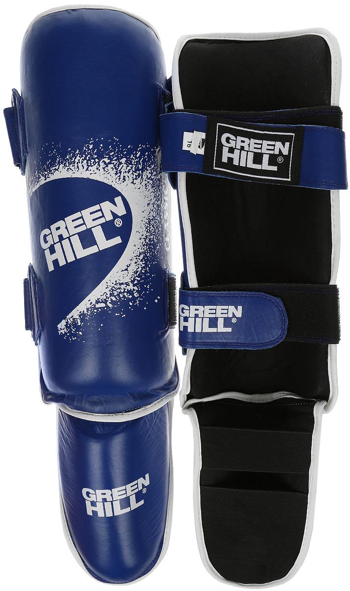 Защита голени и стопы Green Hill Battle, цвет: синий, черный. Размер M. SIB-0014SIB-0014Защита голени и стопы Green Hill Battle с наполнителем, выполненным из вспененного полимера, необходима при занятиях спортом для защиты пальцев и суставов от вывихов, ушибов и прочих повреждений. Накладки выполнены из высококачественной искусственной кожи. Подкладка изготовлена из хлопка, внутренняя сторона выполнена в виде сетки. Они надежно фиксируются за счет ленты и липучек. При желании защиту голени можно отцепить от защиты стопы. Длина голени: 36 см. Ширина голени: 12,5 см. Длина стопы: 24 см. Ширина стопы: 10 см.