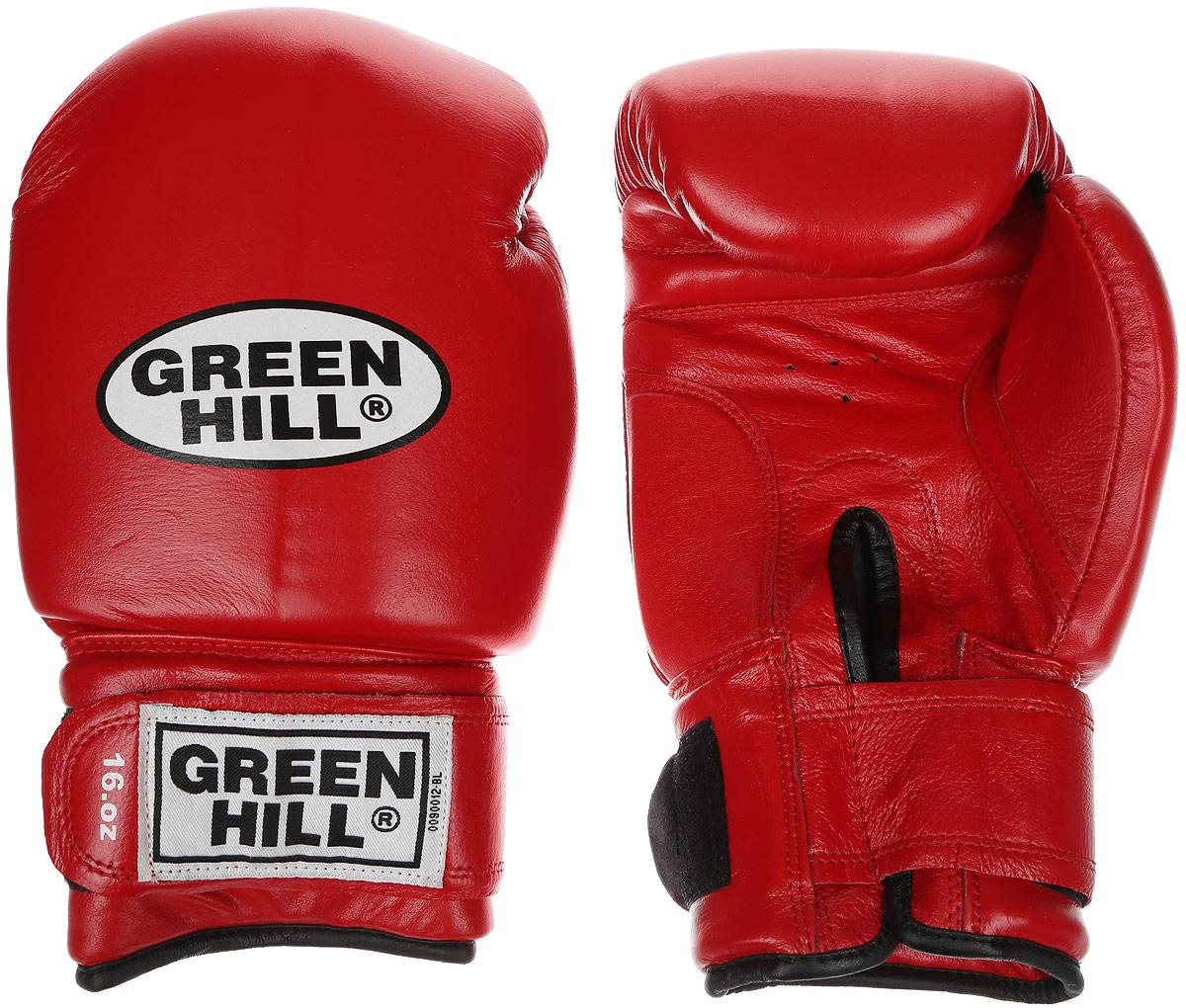 Перчатки боксерские Green Hill Super Star, цвет: красный, белый. Вес 16 унций. BGS-1213сBGS-1213сБоксерские перчатки Green Hill Super Star предназначены для использования профессионалами. Подойдут для спаррингов и соревнований. Верх выполнен из натуральной кожи, наполнитель - из вспененного полимера. Отверстие в области ладони позволяет создать максимально комфортный терморежим во время занятий. Манжет на липучке способствует быстрому и удобному надеванию перчаток, плотно фиксирует перчатки на руке.