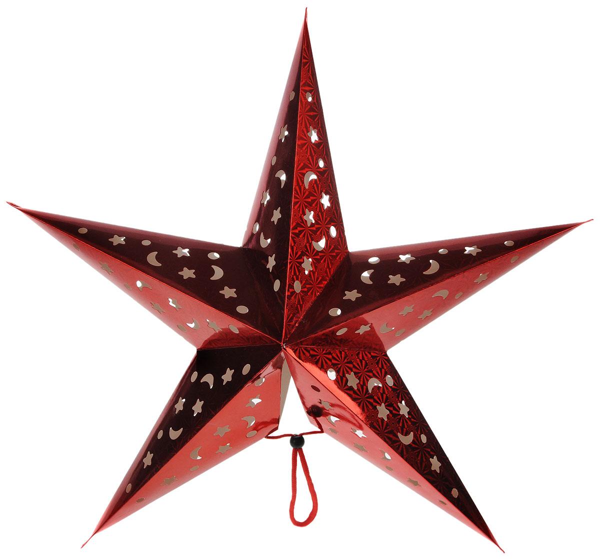 Украшение новогоднее House & Holder Звезда, со светодиодной подсветкой, 60 х 55 х 16 смDP-C38-14099Новогоднее украшение House & Holder Звезда выполнено из картона и оснащено светодиодной подсветкой, работающей от двух батареек типа АА. Изделие можно подвесить в любом понравившемся вам месте. Такое украшение поможет украсить дом или офис к предстоящим праздникам. Новогодние украшения всегда несут в себе волшебство и красоту праздника. Создайте в своем доме атмосферу тепла, веселья и радости, украшая его всей семьей. Размеры звезды: 60 х 55 х 16 см. длина подсветки: 130 см.