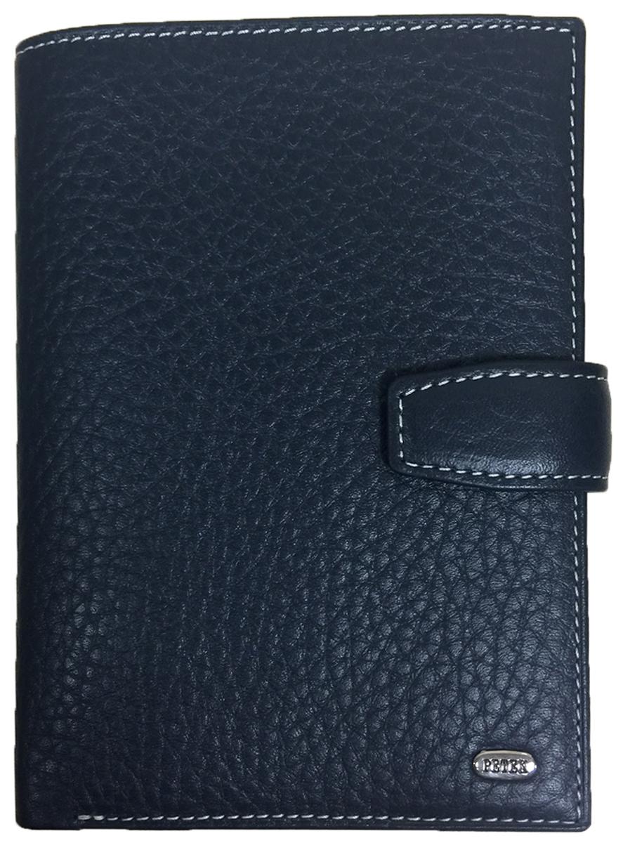 Обложка для автодокументов мужская Petek 1855, цвет: синий. 596.46D.K88596.46D.K88 BlueОбложка для паспорта и автодокументов из натуральной кожи великолепной выделки. Практичная и удобная модель для тех, кто предпочитает все необходимое хранить в одном месте. Внутри обложка имеет специальное отделение для паспорта, вынимающийся блок из прозрачного пластика для автодокументов. Обложка застегивается на кнопку.