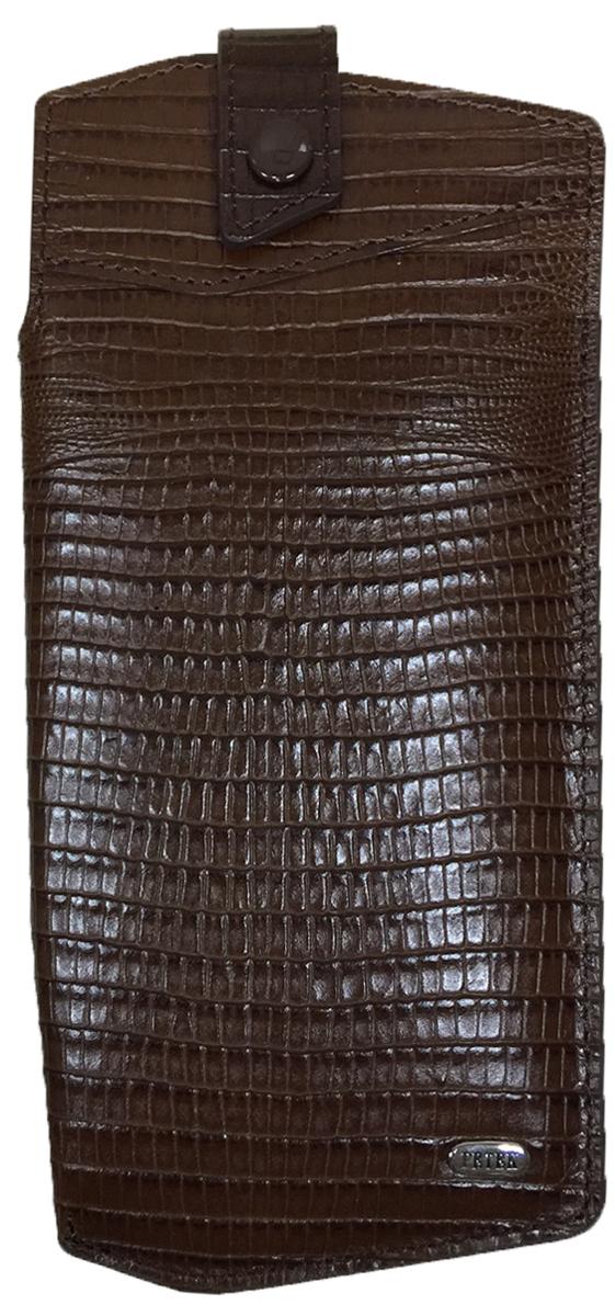 Футляр для очков Petek 1855, цвет: коричневый. 631.041.02631.041.02 D.BrownФутляр для очков (очечник) из натуральной мягкой кожи. Внутренняя поверхность сделана из бархатистой ткани.