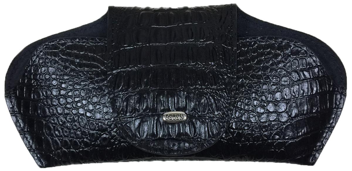 Футляр для очков Petek 1855, цвет: черный. 632.067.01632.067.01 BlackФутляр для очков (очечник) из натуральной мягкой кожи. Внутренняя поверхность сделана из бархатистой ткани.