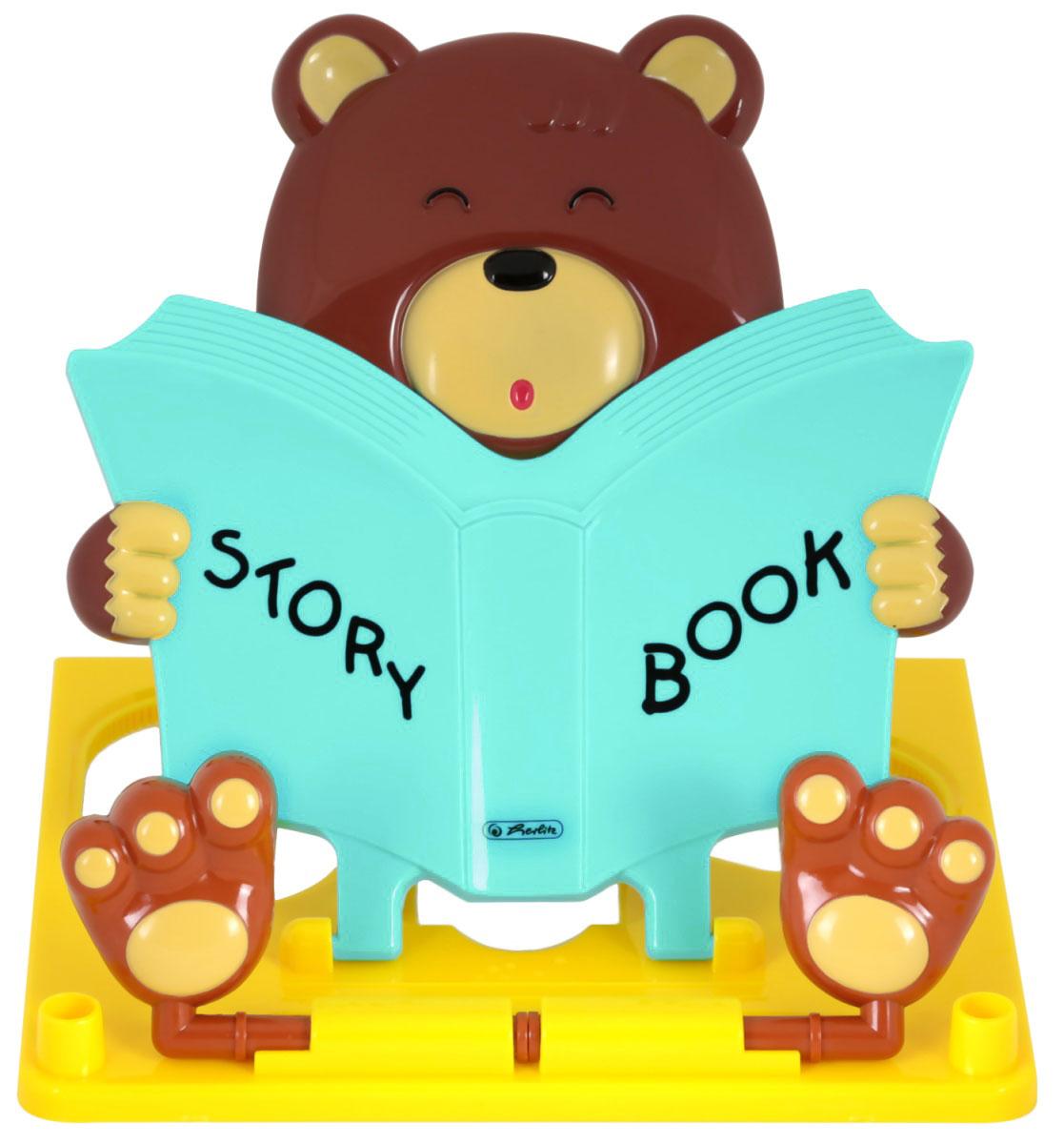 Herlitz Подставка для книг Медведь1610922Во время чтения и работы с книгой важно сохранять правильное расстояние от глаз до листа. Иначе это грозит заболеваниями, связанными с нарушениями ритма дыхания и циркуляции крови. Фигурная подставка Herlitz, выполненная в виде читающего медвежонка, поможет вам избежать этих проблем. Специальные регулируемые по ширине вставки-лапки препятствуют скольжению и падению книг и учебников. Подставка выполнена из прочного пластика, а благодаря небольшому размеру, она не займет много места в рюкзаке. На подставке расположена шкала до 16 см. Удобная складывающаяся подставка для книг и учебников удобно зафиксирует книгу на столе и позаботится о зрении ребенка. Подставка станет незаменимым аксессуаром на столе у школьника.