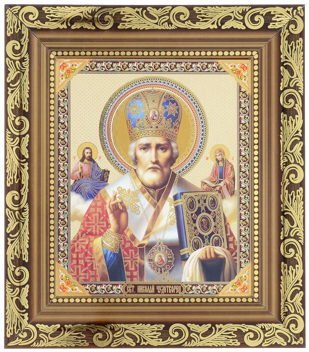 """Икона Proffi """"Святой Николай Чудотворец"""", 14 х 17 см PH7196"""