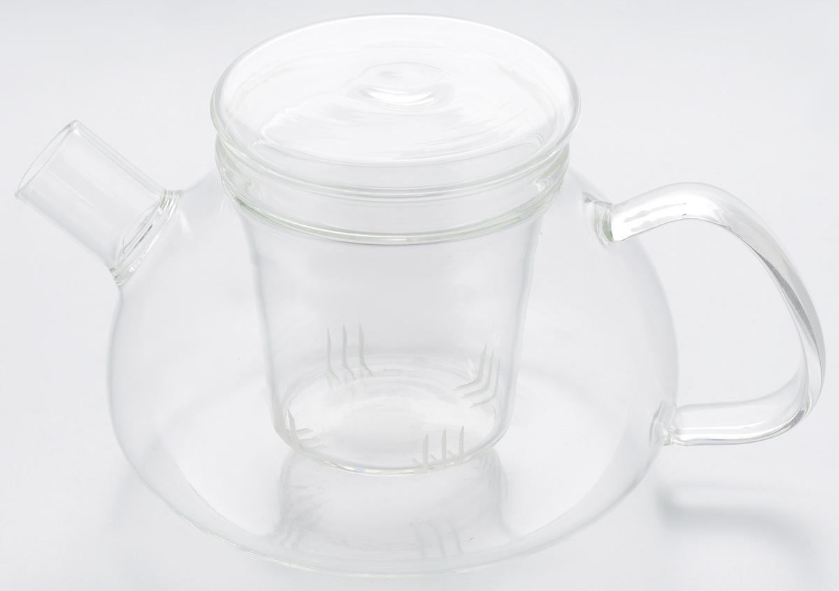 Чайник заварочный Hunan Provincial Киото, 750 мл15054Заварочный чайник Hunan Provincial Киото изготовлен из стекла. Пить чай из такого чайника сплошное удовольствие! Полностью прозрачная форма позволяет любоваться цветом своего любимого напитка. Устойчивая основа, широкий носик, удобная ручка - все выполнено идеально для достижения полного комфорта в использовании. Внутреннее сито выполнено на 100% из стекла и имеет прорези для чайного настоя. После того, как чай заварился, колбу лучше всего достать из чайника, для того чтобы чайный лист не перезаваривался. Диаметр чайника (по верхнему краю): 7,5 см. Высота чайника (без учета крышки): 7,5 см. Высота чайника (с учетом крышки): 9,5 см. Высота фильтра: 8 см.