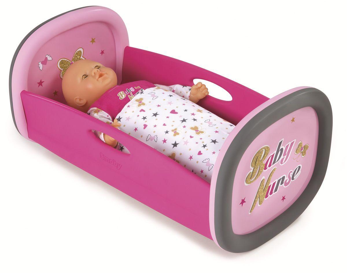 Smoby Мебель для кукол Колыбель Baby Nurse220313Колыбель-люлька для кукол Smoby Baby Nurse подходит для кукол до 42 см. В комплекте одеяло. Кукла в комплект не входит!