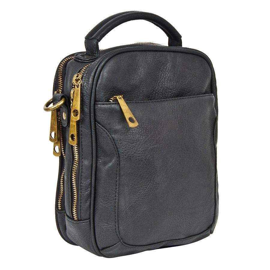 Сумка мужская Pola, цвет: черный. 8328183281Мужская сумка Pola выполнена из экокожи. Два основных отделения с потайным карманом и кармашки под письменные принадлежности. Карман спереди сумки на молнии и карман сзади на магнитной кнопке. Удобный плечевой ремень, который регулируется по необходимой вам длине.