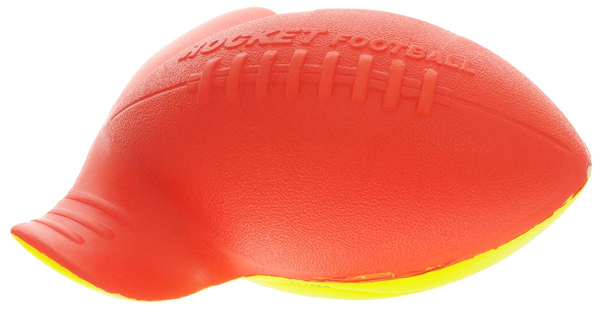 Aerobie Мяч Rocket Football цвет красный желтый76_красный, желтый_Rocket FootballОригинальный мяч для бросков Aerobie Rocket Football изготовлен из мягкого эластичного материала, что позволяет обезопасить ладони игроков при приеме мяча. Несмотря на его небольшой размер, особым образом изогнутые края сделают эффектным бросок даже на большую дистанцию. Специально разработанный аэродинамический дизайн позволяет делать точные и меткие броски, будь они сделаны даже из-за спины игрока, делая увлекательной игру не только для детей, но и для их родителей.