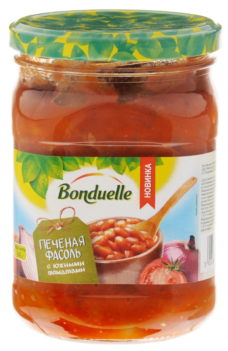 Bonduelle Печеная фасоль с южными томатами, 540 г