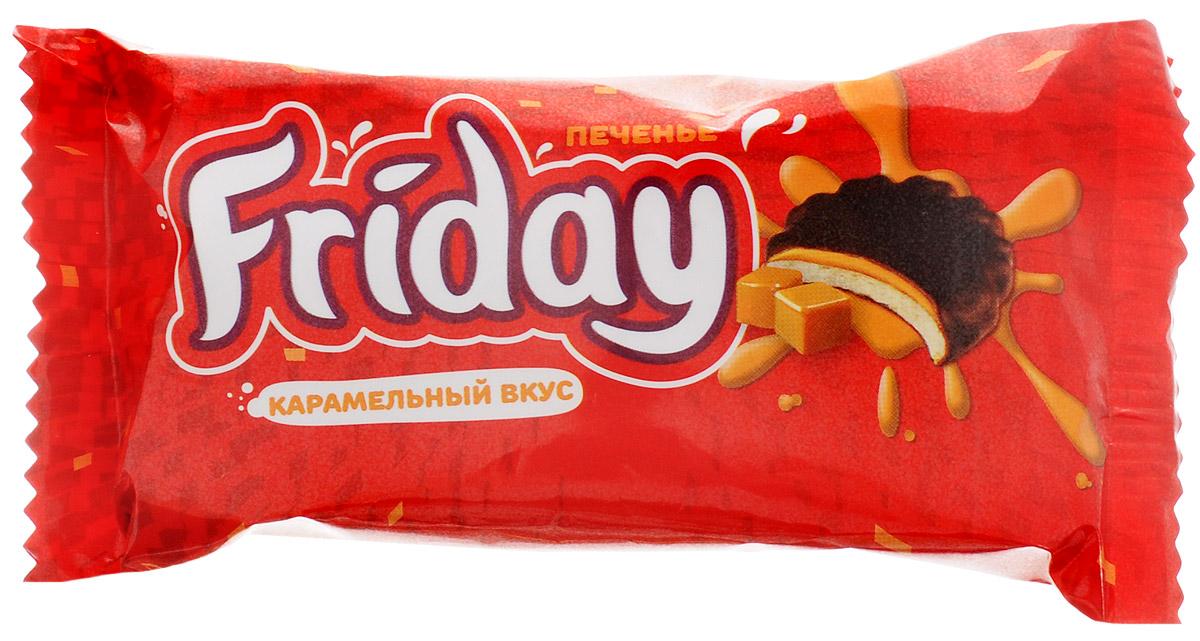 Слодыч Friday печенье глазированное с карамельным вкусом, 63 г