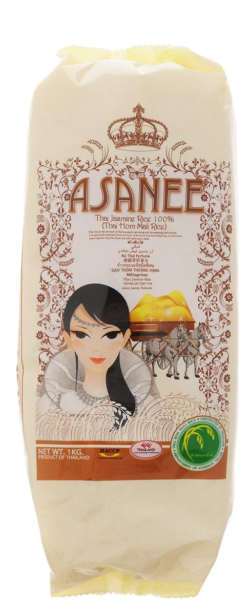 Asanee рис тайский жасминовый, 1 кг8855912000516Тайский жасминовый рис получил популярность во всем мире как самый благоухающий и ароматный сорт. Его официальное название Thai Hom Mali (Тай Хом Мали). Этот рис обладает таким нежным и ароматным вкусом, что его принято подавать на стол как самостоятельное блюдо. Тайский жасминовый рис Asanee не содержит глютена. Он является гипоаллергенным и диетическим продуктом. При варке зерна риса сохраняют идеальную форму и становятся белоснежными. Рис является источником растительного белка. Он помогает стабилизировать пищеварительные процессы и укрепляет желудок.