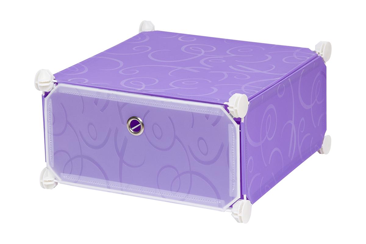 Полка складная EL Casa, для модульной системы хранения, цвет: фиолетовый, 37 х 39 х 21 см370638Полка складная EL Casa представляет собой сборный металлический каркас, на который натянуты панели из полипропилена. Дверца снабжена магнитом, а ручка выполнена в виде кольца. Модульная полка предназначена для хранения одежды, игрушек и мелочей. Она легкая, вместительная, быстро собирается, не занимает много места, комбинируется с другими полками модульных систем El Casa. Компактная полка станет незаменимой дома или на даче, однотонная расцветка позволит ей вписаться в любой интерьер.