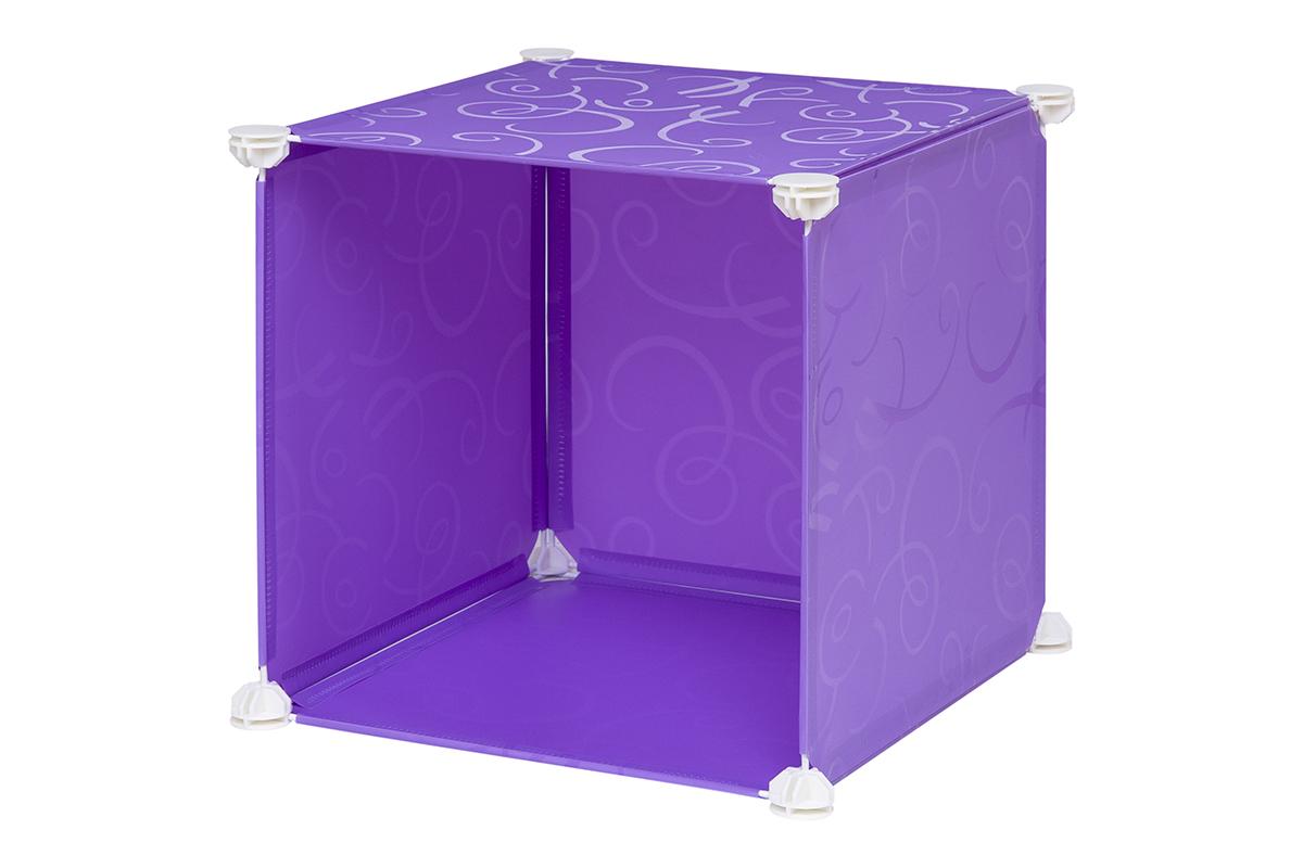 """Полка складная """"EL Casa"""", для модульной системы хранения, цвет: фиолетовый, 37 х 39 х 39 см. 370662"""