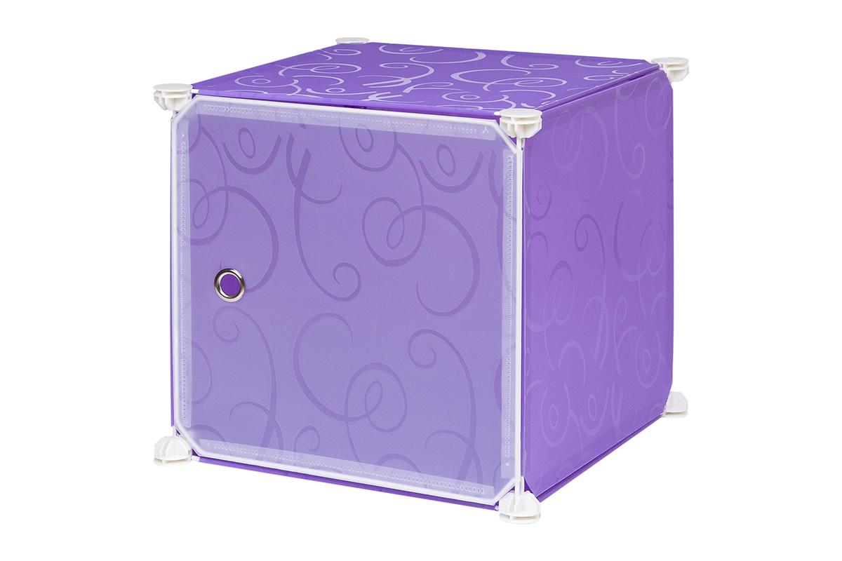 Полка складная EL Casa, для модульной системы хранения, цвет: фиолетовый, 37 х 39 х 39 см. 370670370670Складная модульная полка EL Casa представляет собой сборный металлический каркас, на который натянуты панели из полипропилена. Дверца снабжена магнитом, ручка выполнена в виде металлического кольца. Модульная полка предназначена для хранения одежды, игрушек и мелочей. Она легкая, вместительная, быстро собирается, не занимает много места, комбинируется с другими полками модульных систем El Casa. Компактная полка станет незаменимой дома или на даче, однотонная расцветка позволит ей вписаться в любой интерьер.