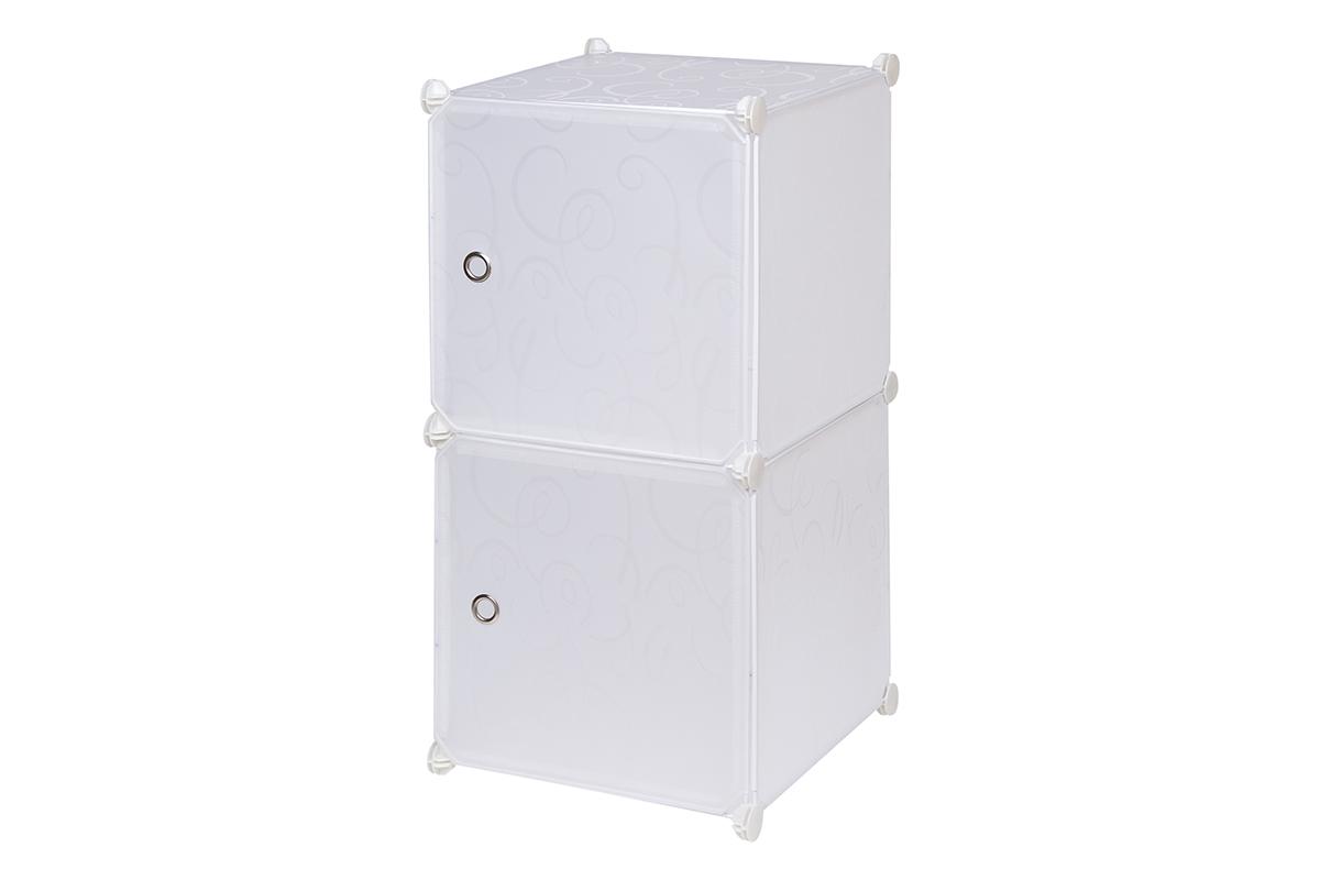 Полка складная EL Casa, для модульной системы хранения, цвет: белый, 37 х 39 х 74 см. 370673370673Складная модульная полка EL Casa представляет собой сборный металлический каркас, на который натянуты панели из полипропилена. Дверцы снабжены магнитом, ручки выполнены в виде металлического кольца. Изделие имеет 2 секции. Модульная полка предназначена для хранения одежды, игрушек и мелочей. Она легкая, вместительная, быстро собирается, не занимает много места, комбинируется с другими полками модульных систем El Casa. Компактная полка станет незаменимой дома или на даче, однотонная расцветка позволит ей вписаться в любой интерьер.