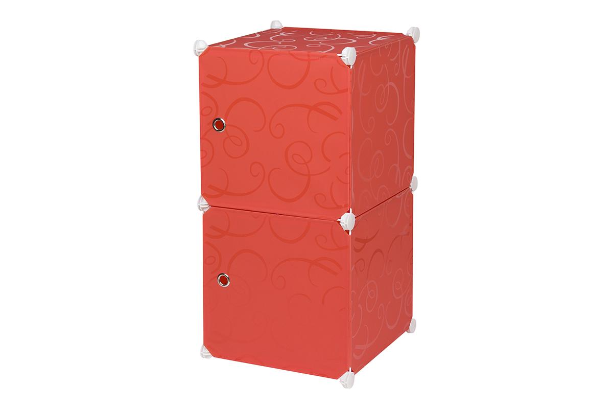 Полка складная EL Casa, для модульной системы хранения, цвет: красный, 37 х 39 х 74 см. 370676370676Складная модульная полка EL Casa представляет собой сборный металлический каркас, на который натянуты панели из полипропилена. Дверцы снабжены магнитом, ручки выполнены в виде металлического кольца. Изделие имеет 2 секции. Модульная полка предназначена для хранения одежды, игрушек и мелочей. Она легкая, вместительная, быстро собирается, не занимает много места, комбинируется с другими полками модульных систем El Casa. Компактная полка станет незаменимой дома или на даче, однотонная расцветка позволит ей вписаться в любой интерьер.