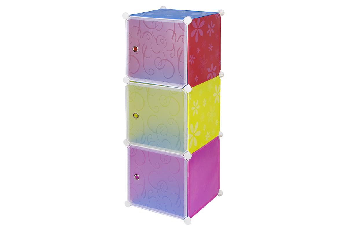 """Полка складная EL Casa """"Цветная ромашка"""", для модульной системы хранения, 37 х 39 х 108 см 370677"""