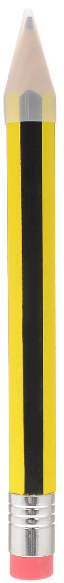 Эврика Карандаш с ластиком 40 см89987Очень большой карандаш с ластиком - это увеличенная копия широко известного предмета канцелярии. Пользоваться им можно так же, как и обычным карандашом. Карандаш изготовлен из натурального дерева и оформлен черно-желтыми полосами. Толщина грифеля: 0,7 см. Карандаш дополнен ластиком и прозрачным колпачком. Такой карандаш - забавный подарок для каждого Большого Человека.