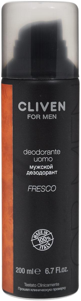 Cliven Мужской дезодорант-спрей Fresco 200мл7286Дезодорант-спрей Cliven For Men освежит и придаст приятный аромат.