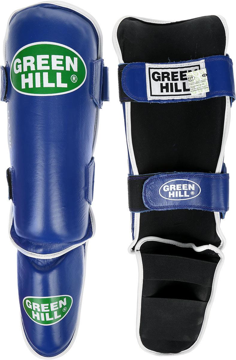 Защита голени и стопы Green Hill Classic, цвет: синий, черный. Размер S. G-0019G-0019-SЗащита голени и стопы Green Hill Classic с наполнителем, выполненным из вспененного полимера, необходима при занятиях спортом для защиты пальцев и суставов от вывихов, ушибов и прочих повреждений. Накладки выполнены из высококачественной натуральной кожи. Они надежно фиксируются за счет ленты и липучек. Удобные и эргономичные накладки Green Hill Classic идеально подойдут для занятий тхэквондо и другими видами единоборств. Длина голени: 34 см. Ширина голени: 15 см. Длина стопы: 17 см. Ширина стопы: 12 см.