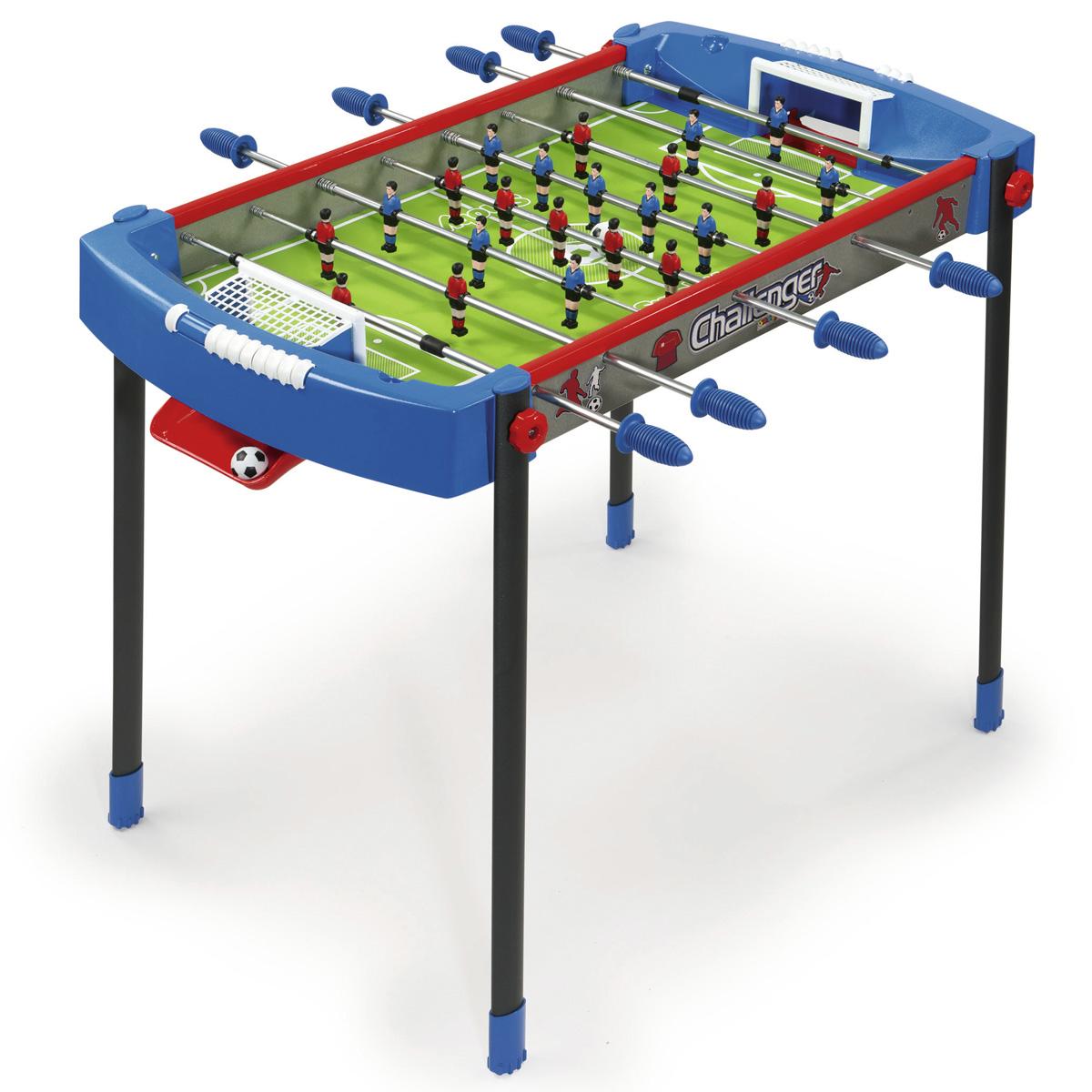 Smoby Футбольный стол Челленжер 106 х 69 х 74 см620200Футбольный стол Challenger raquo из спортивной серии Masters - размеры 106х69х74 см (длина, ширина, высота). Предназначен для детей от 6-и лет. Изготовлен из упрочнённого пластика и металла. В комплекте 2 пластиковых мяча.