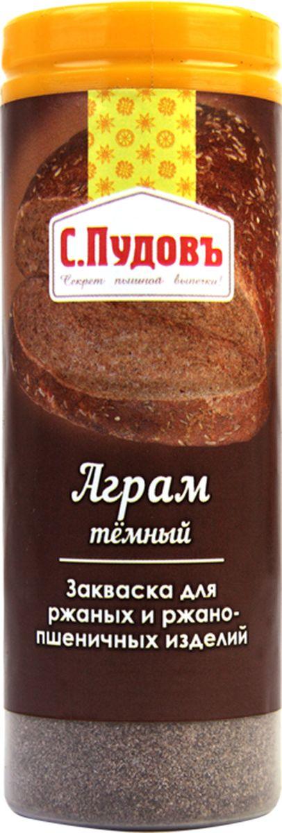 Пудовъ аграм темный, 60 г4607012294852Сухая закваска Аграм темный используется при выпечке ржаного и ржано-пшеничного хлеба. Она предназначена для повышения эластичности и затемнения мякиша, улучшения вкуса и аромата готовых изделий. Рекомендуемая дозировка: 0,2-1,6% к массе муки.