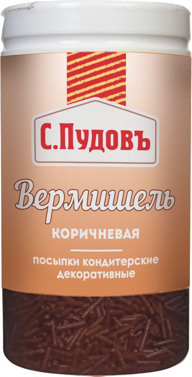 Пудовъ посыпка вермишель коричневая, 40 г
