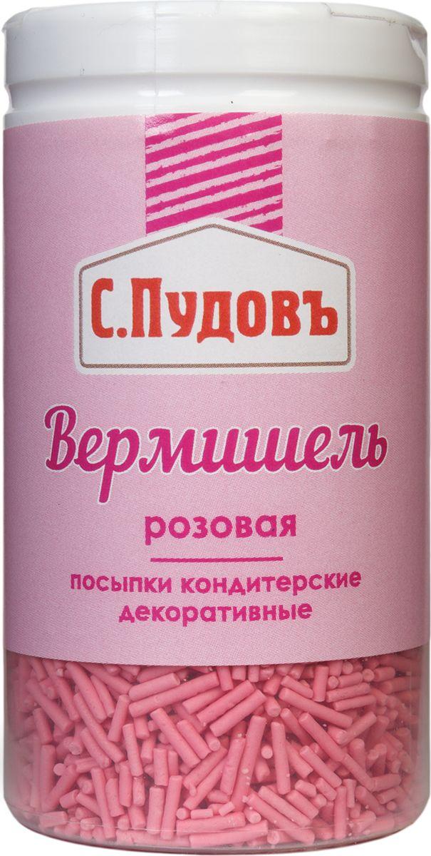 Пудовъ посыпка вермишель розовая, 40 г