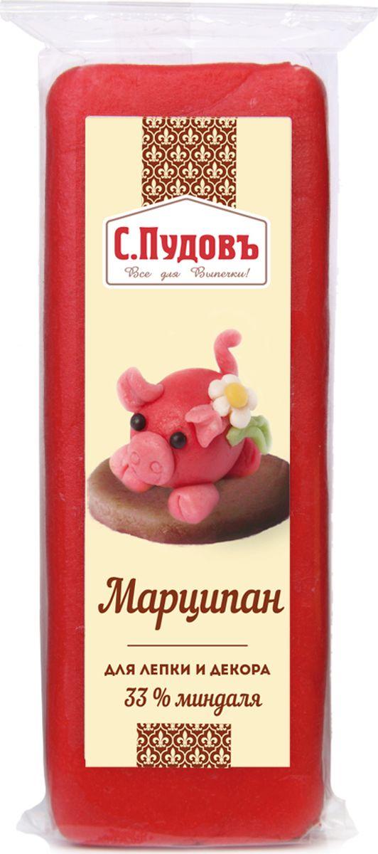 Пудовъ марципан красный, 100 г