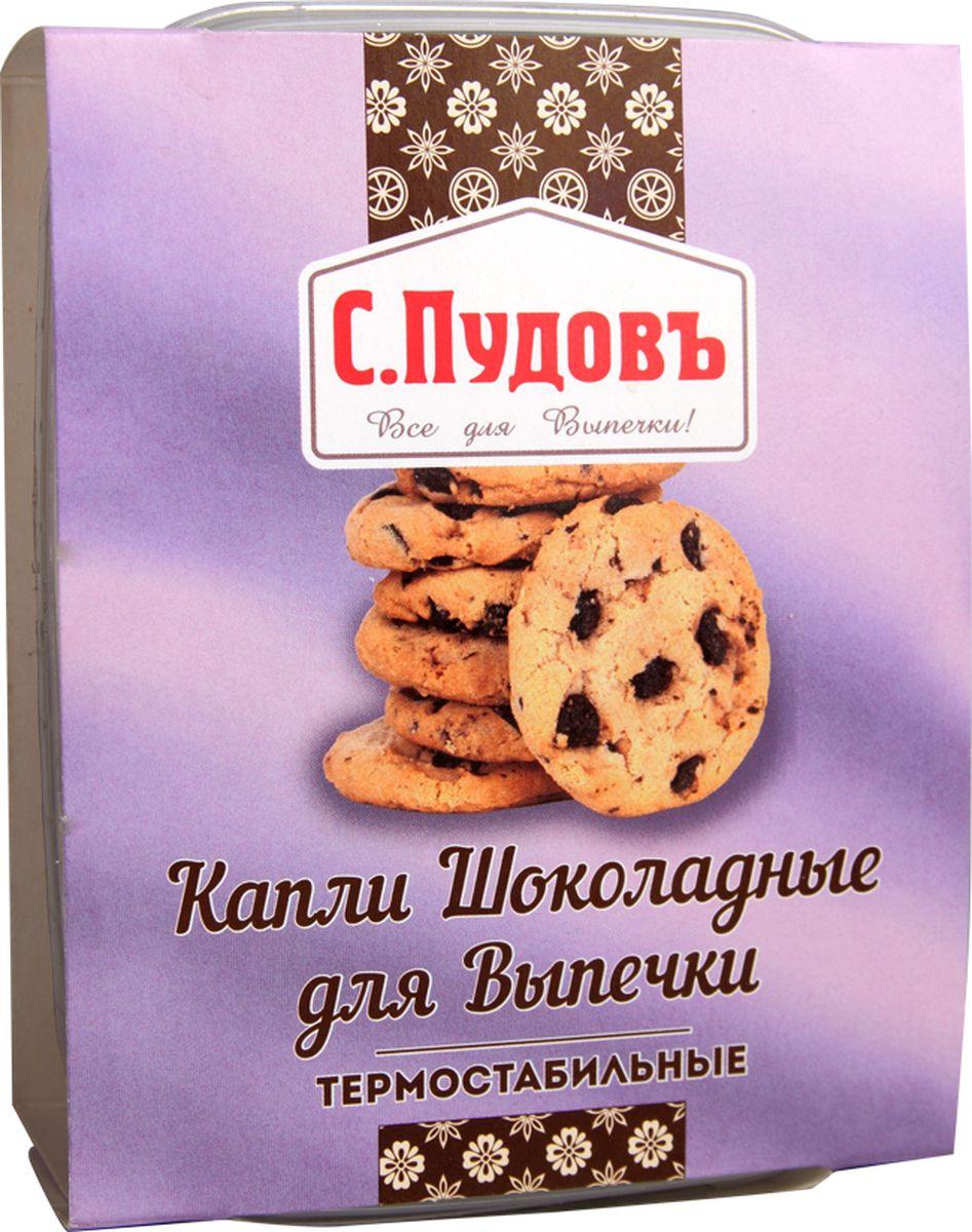 Пудовъ капли шоколадные термостабильные, 90 г4607012296825Если вы думаете о том, как добавить изюминку традиционным на вашей кухне хлебобулочным изделиям, тогда термостабильные шоколадные капли производства С. Пудовъ — это как раз то, что нужно. Эти аппетитные кусочки шоколада в удобной упаковке не тают при выпечке даже на высоких температурах, отлично сохраняют первозданный вид и форму и имеют просто великолепный вкус. Добавлять их можно практически в любые изделия. Хлеб и булочки, печенье и пряники, кексы и маффины — с термостабильными шоколадными каплями С. Пудовъ ваша домашняя выпечка станет только лучше и вкуснее!