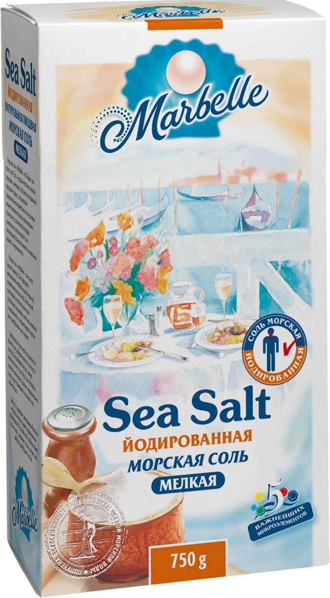 Marbellе морская соль йодированная мелкая, 750 г4607012291400Мелкая натуральная йодированная морская соль Marbelle идеально подходит для соления готовых блюд непосредственно за столом.