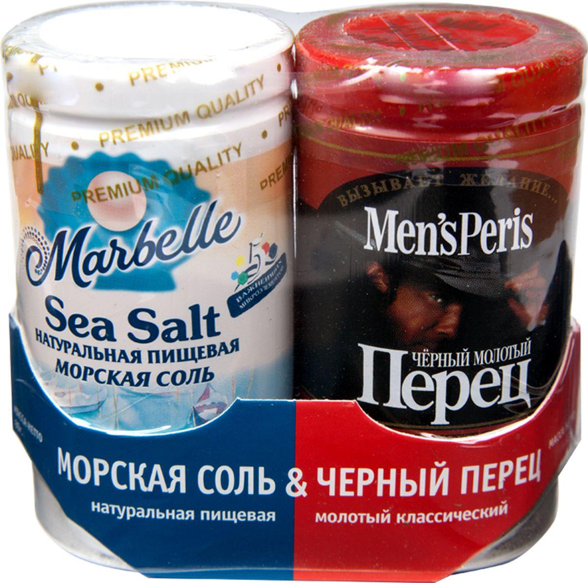 Marbellе набор соль морская и перец черный, 115 г