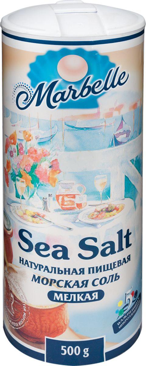 Marbellе морская соль мелкая, 500 г4607012292728Морская натуральная соль помола 0 – важный продукт на кухне каждой хозяйки. Без него не готовится практически ни одно блюдо. Кроме того, соль – богатый источник микроэлементов и минералов. Удобная упаковка, которой хватит надолго.
