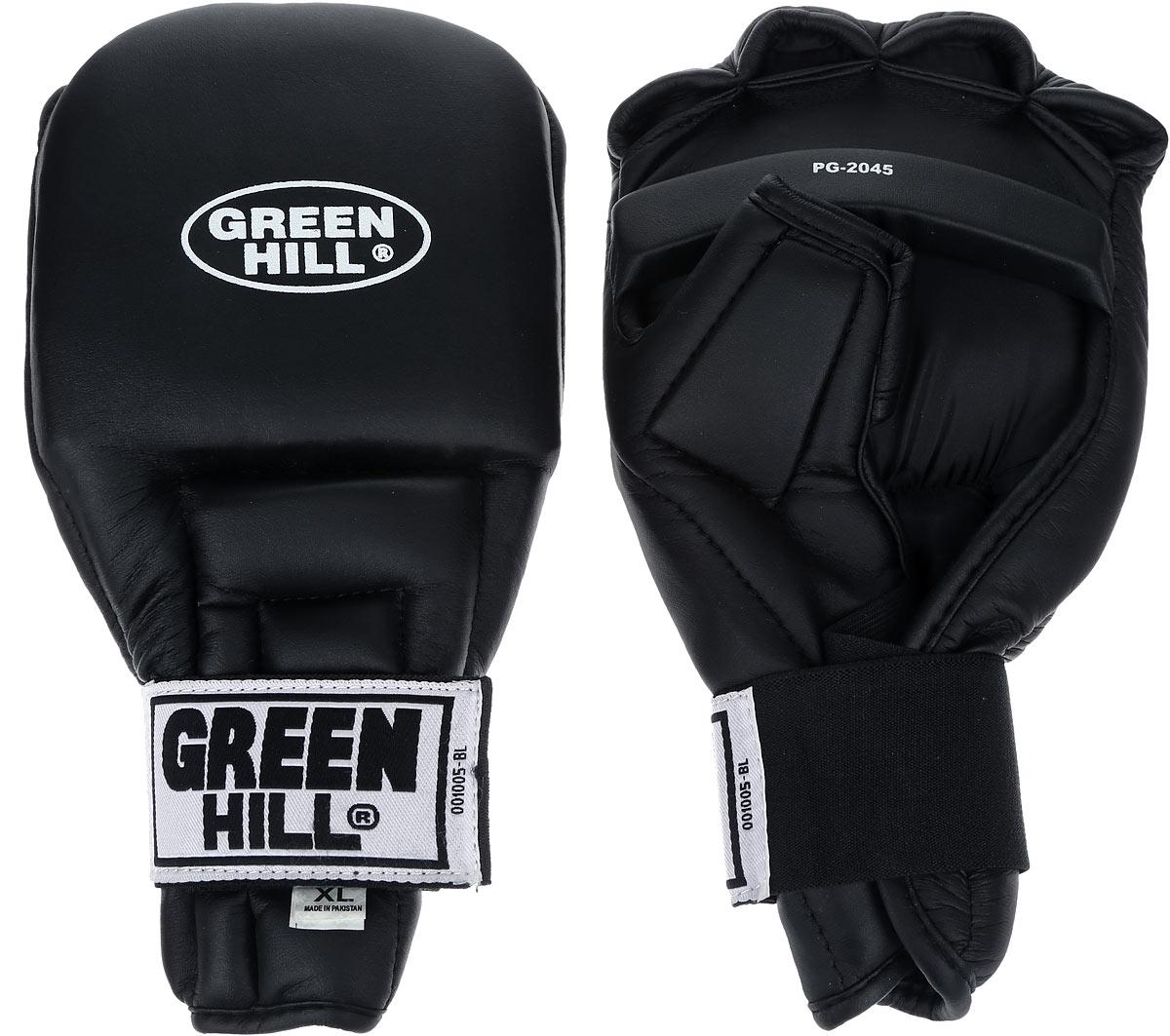 """Перчатки для рукопашного боя """"Green Hill"""", цвет: черный. Размер XL. PG-2045"""