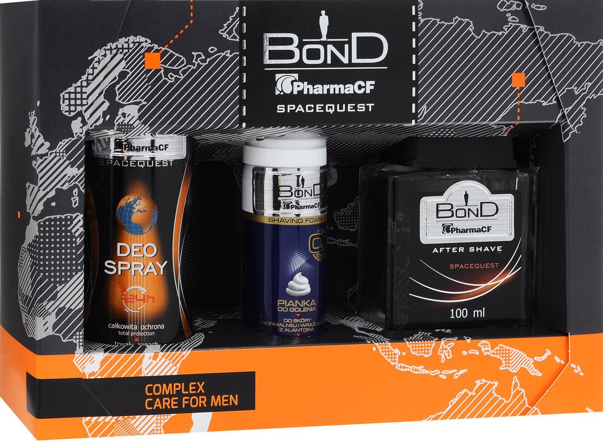 Bond Мужской Подарочный Набор Spacequest (дезодорант DEO 150 ML + лосьон после бритья AS 100 ML+ пена для бритья PDG 50 ML)