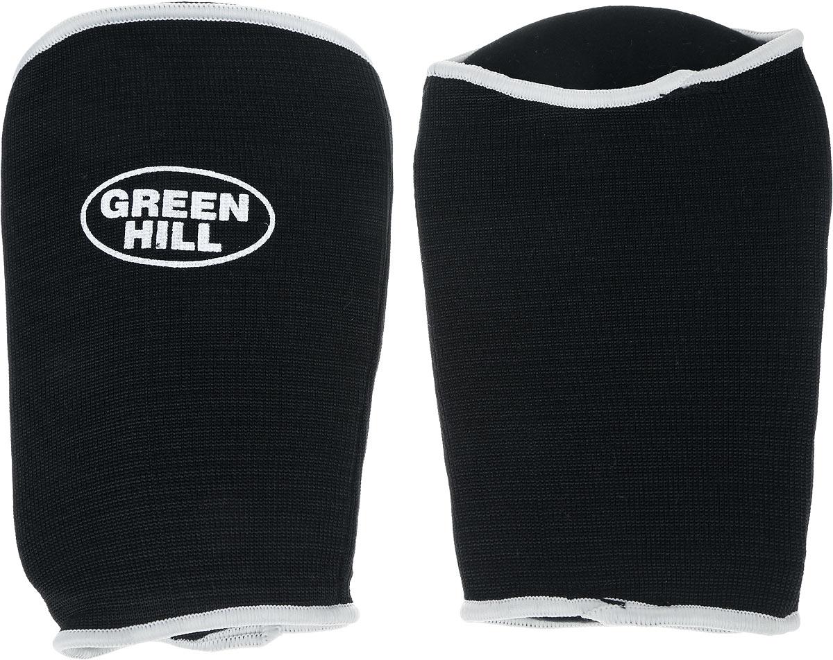 Защита на предплечье Green Hill, цвет: черный, белый. Размер M. AP-6132AP-6132Защита на предплечье Green Hill предназначена для занятий различными видами единоборств. Она защищает руки от синяков и ушибов. Защита изготовлена из хлопка с эластаном, мягкие вкладки изготовлены из вспененного полимера.