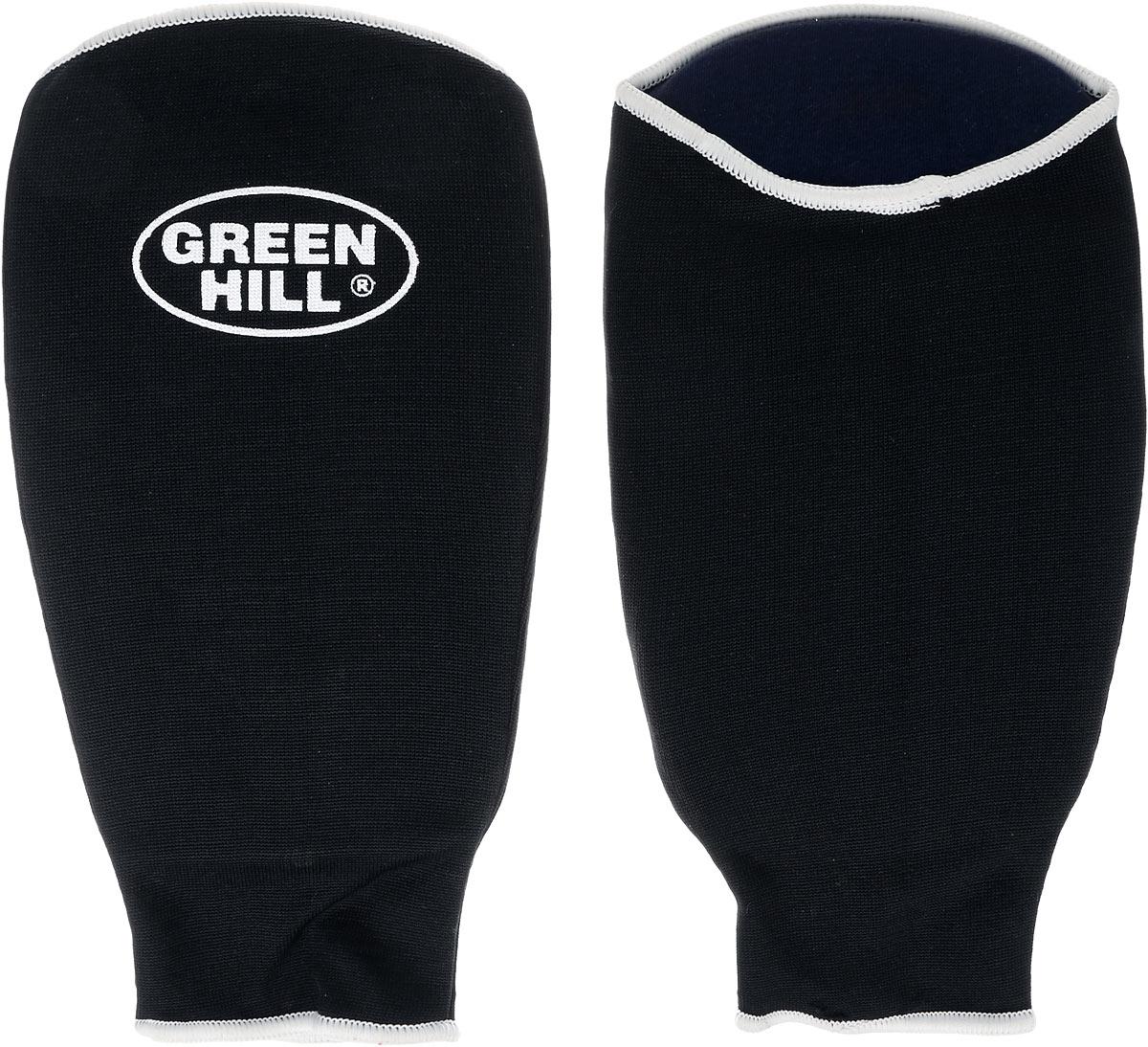 Защита на предплечье Green Hill, цвет: черный, белый. Размер L. AP-6132AP-6132Защита на предплечье Green Hill предназначена для занятий различными видами единоборств. Она защищает руки от синяков и ушибов. Защита изготовлена из хлопка с эластаном, мягкие вкладки изготовлены из вспененного полимера.