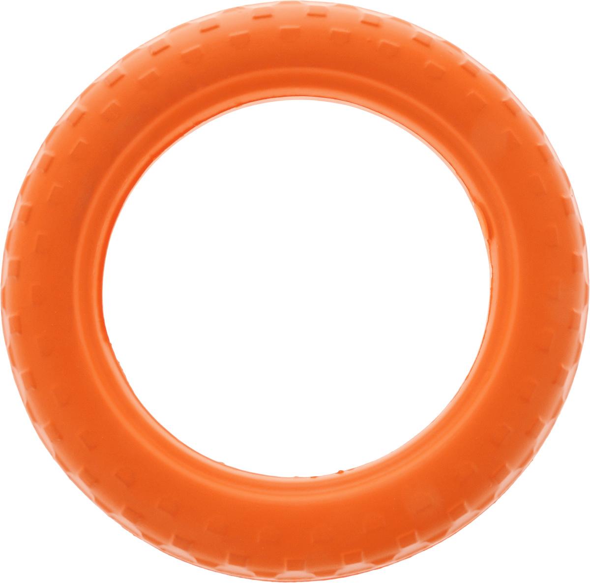 Игрушка для животных Doglike Шинка для колеса. Средняя, цвет: оранжевый, диаметр 27 смDH 7514Doglike Шинка для колеса. Средняя - простая и незамысловатая игрушка для собак, которая способна решить многие проблемы здоровья вашего четвероногого любимца. Если ваш пес портит мебель, излишне агрессивен, непослушен или страдает излишним весом то, скорее всего, корень всех бед кроется в недостаточной физической и эмоциональной нагрузке. Порадуйте своего питомца прекрасным и качественным подарком. Диаметр игрушки: 27 см.