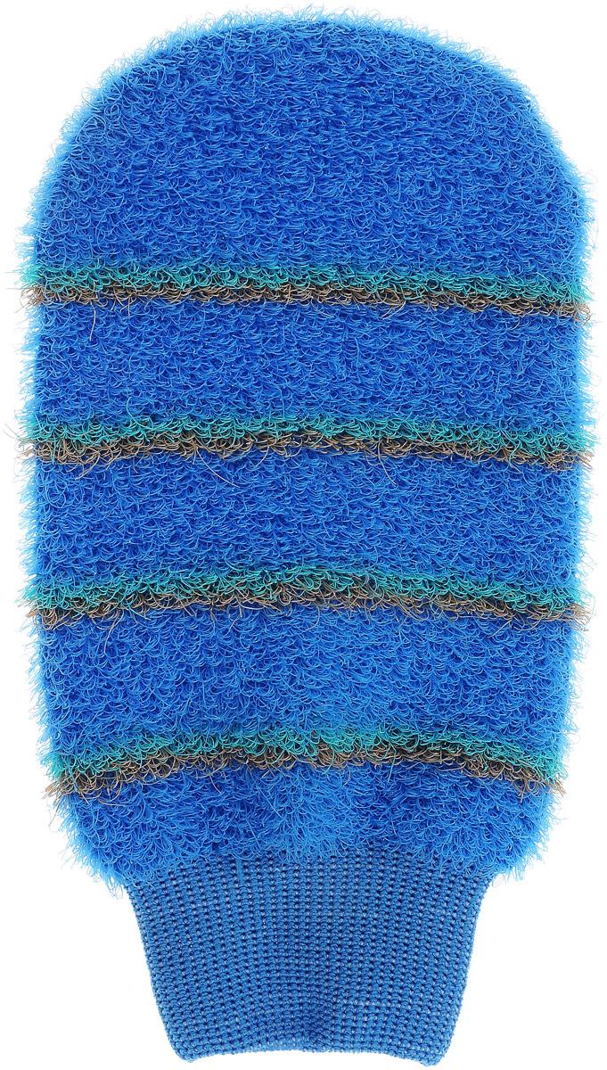 Мочалка-рукавица массажная Riffi, цвет: светло-синий804_светло-синийМочалка-рукавица массажная Riffi, цвет: светло-синий