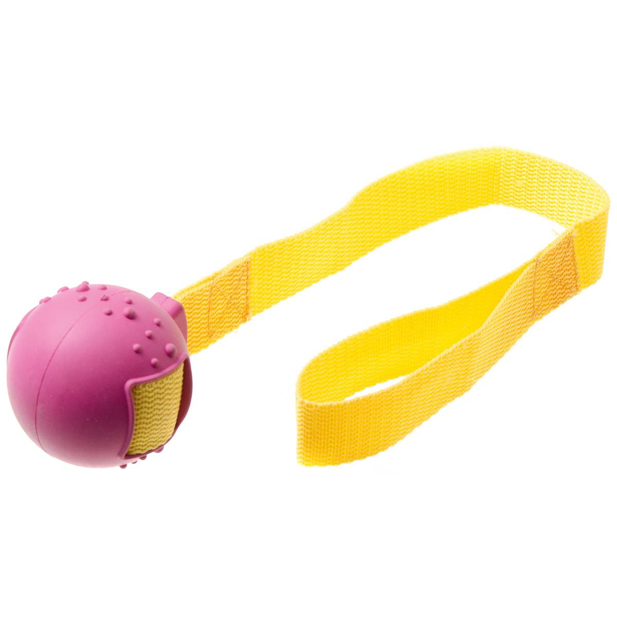 Игрушка для собак V.I.Pet Мяч на ручке, диаметр 5,5 см13121Предназначена для активной игры с питомцем в перетягивание и бросание. С этой игрушкой с удовольствием будут играть и щенки, и взрослые собаки. Изготовлена из экологически чистой резины - абсолютно нетоксичной и безопасной, моется водой.