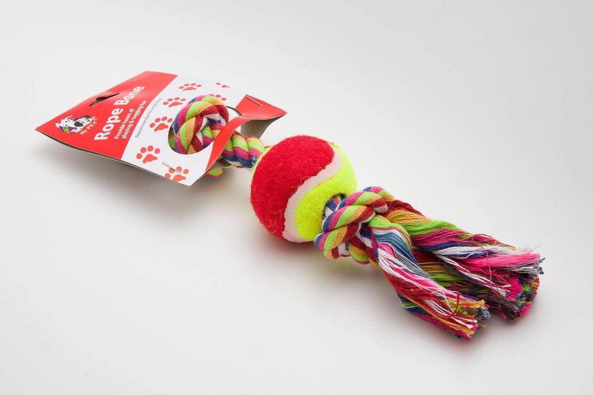 Игрушка канатная MrPet, с теннисным мячом, 18 см. 2108a2108a