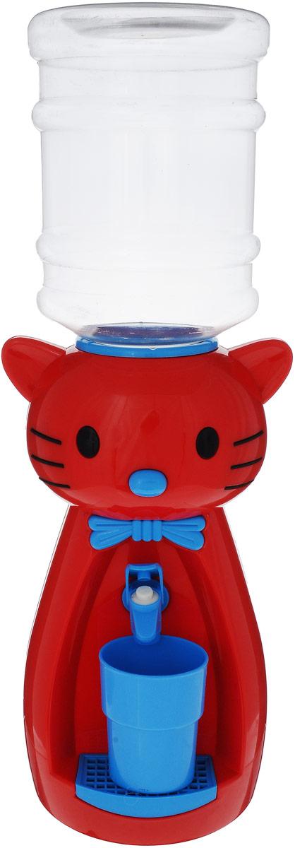 Мини-кулер для воды и сока HITT Мультик. Китти, цвет: красный, голубой, 2 лН25200Детский мини-кулер HITT Мультик. Китти, выполненный из экологически чистого пластика, помогает ребёнку быть самостоятельным. Кроха с удовольствием будет наливать сок, воду или компот из кулера в небольшой стаканчик совсем как взрослый. Изделие легкое и компактное, поэтому его можно взять с собой на дачу или на пикник. А яркий дизайн, сочные цвета и весёлый персонаж гарантированно понравятся малышам. Ребенок станет потреблять больше жидкости. Вам не придется уговаривать его выпить молоко или компот. Стакан входит в комплект. Высота мини-кулера (с учетом бутылки): 49 см.
