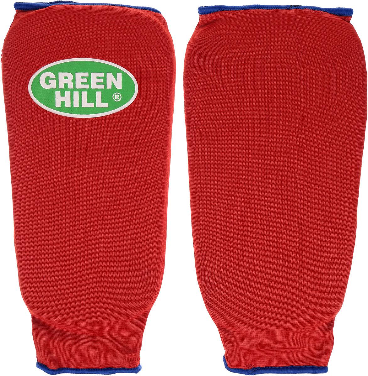 Защита голени Green Hill, цвет: красный, синий. Размер S. SPC-6210SPC-6210Защита голени Green Hill с наполнителем, выполненным из вспененного полимера, необходима при занятиях спортом для защиты суставов от вывихов, ушибов и прочих повреждений. Накладки выполнены из высококачественного эластана и хлопка. Длина голени: 23,5 см. Ширина голени: 14 см.