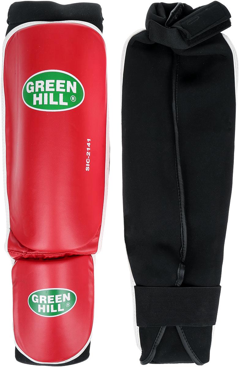 Защита голени и стопы Green Hill Cover, цвет: красный, белый. Размер M. SIС-2141SIС-2141Защита голени и стопы Green Hill Cover с наполнителем, выполненным из полипропилена, необходима при занятиях спортом для защиты пальцев и суставов от вывихов, ушибов и прочих повреждений. Накладки выполнены из высококачественной искусственной кожи. Они прочно фиксируются за счет эластичной ленты и липучек. Длина голени: 29 см. Ширина голени: 15,5 см. Длина стопы: 15 см. Ширина стопы: 11,5 см.