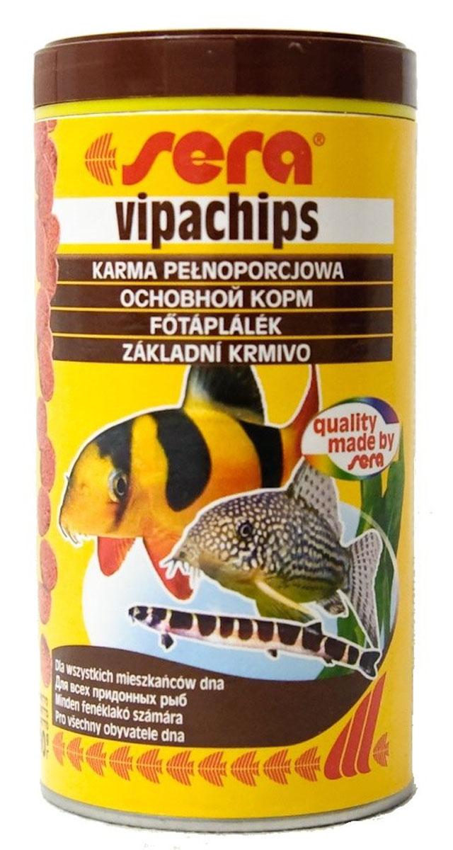 Sera Vipachips Корм для донных рыб, чипсы 250мл15983Основной корм в форме чипсов для всех придонных рыб. Корм в форме чипсов состоит из различных водных живых кормов и быстро погружается. Этот сбалансированный и полезный для здоровья корм, соответствующий естественным потребностям рыб, особенно хорошо подходит для сомиков и боций, но также и для других видов придонных рыб. Чипсы сохраняют свою форму в течение длительного времени и не загрязняют воду.